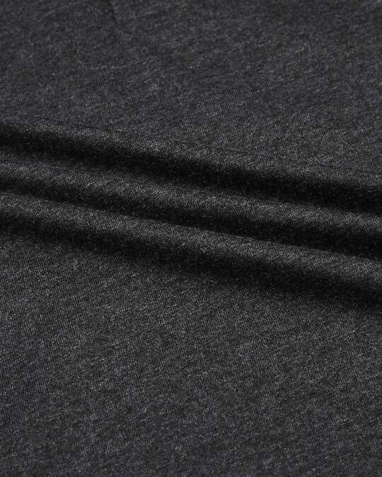 Shop Anthra Melange & Black Melange Cut & Sew Polo