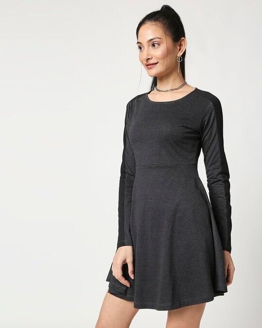 Shop Anthra Melange Flared Dress-Design