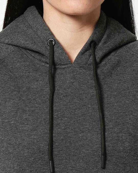 Shop Anthra Melange Hoodie Sweatshirt