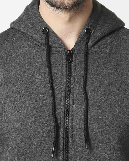 Shop Anthra Melange Zipper Hoodie
