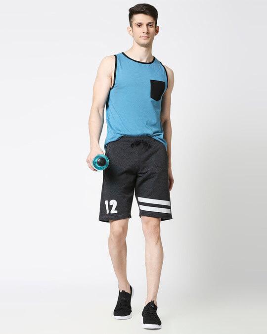 Shop Anthra Melange Men Shorts-Full