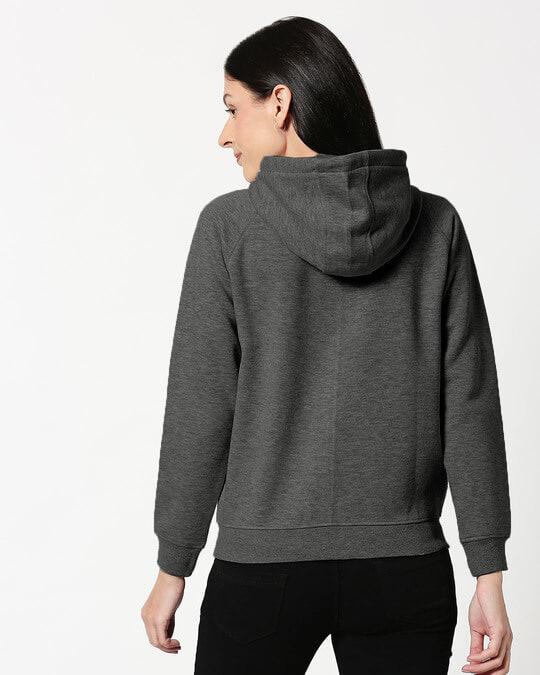 Shop Anthra Melange Zipper Hoodie-Design
