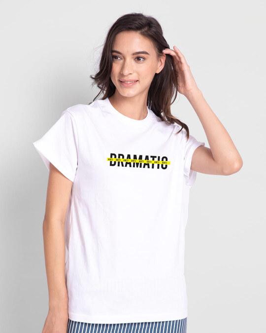 Shop Anti - Dramatic Boyfriend T-Shirts White-Back