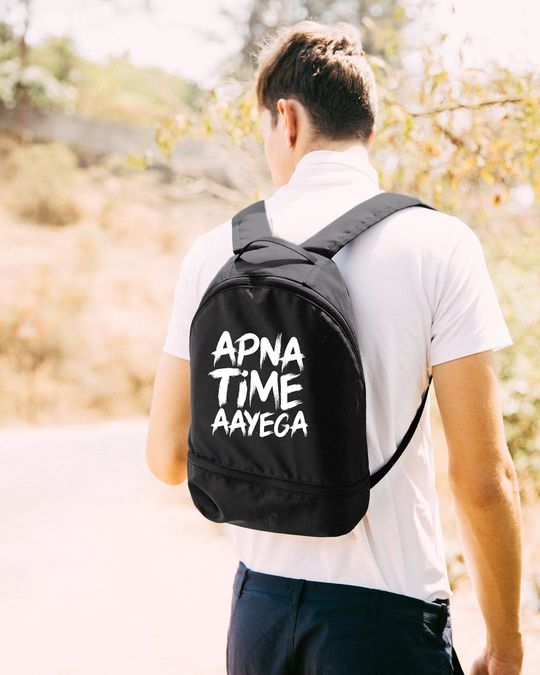 Shop Apna Time Ayega Small Backpack