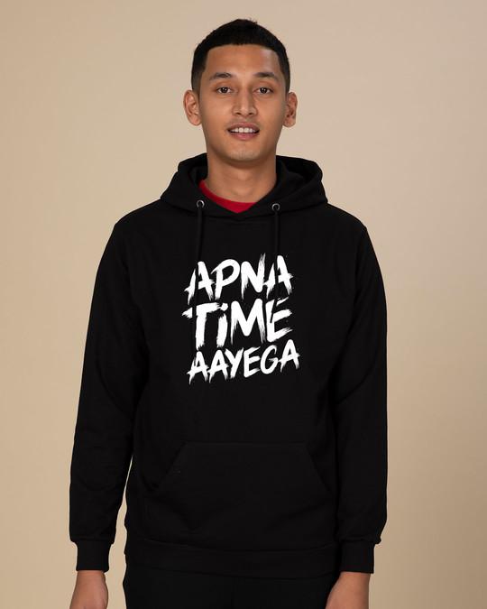 Shop Apna Time Ayega Fleece Hoodies-Front