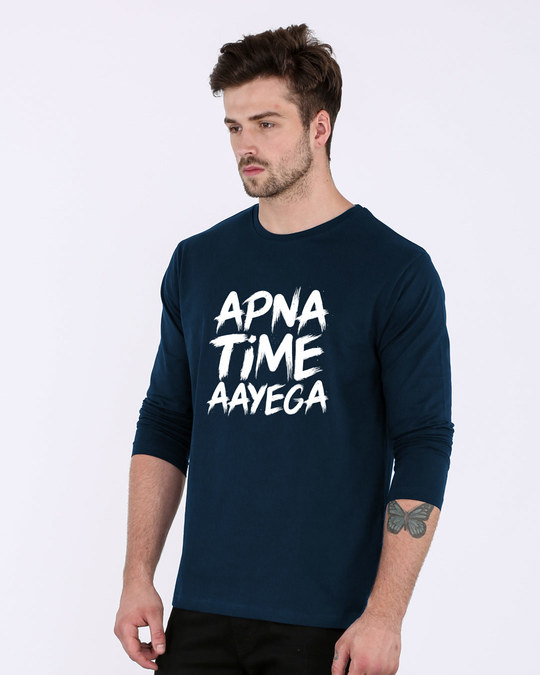 Shop Apna Time Ayega Full Sleeve T-Shirt-Back