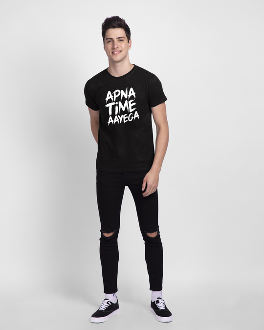 Shop Apna Time Ayega Half Sleeve T-Shirt-Design