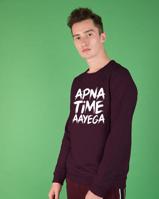 Shop Apna Time Ayega Sweatshirt-Back