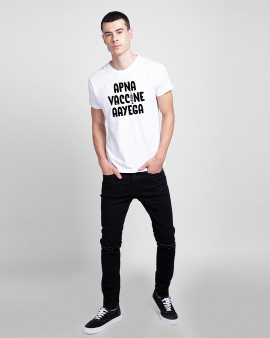 Shop Apna Vaccine Aayega Half Sleeve T-Shirt-Design