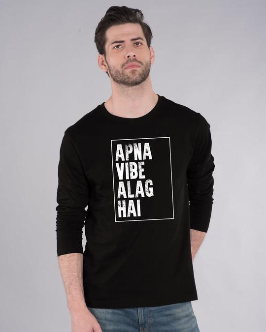 Shop Apna Vibe Alag Hai Full Sleeve T-Shirt-Front