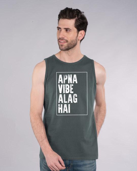 Shop Apna Vibe Alag Hai Vest-Front