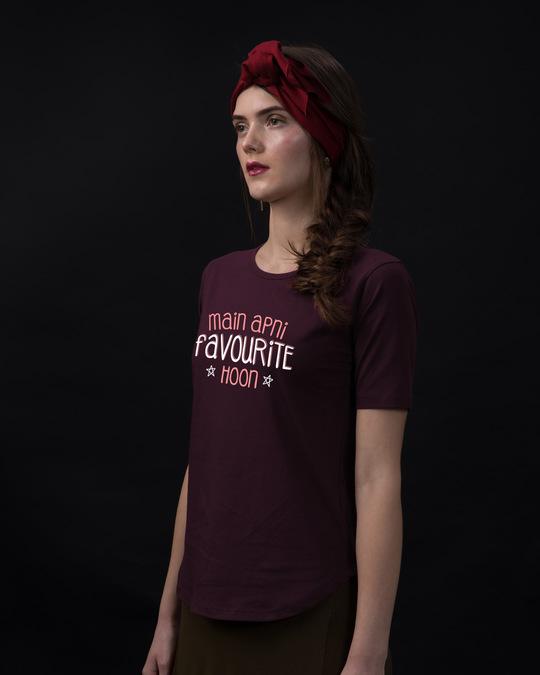 Shop Apni Favourite Basic Round Hem T-Shirt-Back