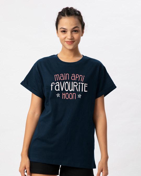 Shop Apni Favourite Boyfriend T-Shirt-Front