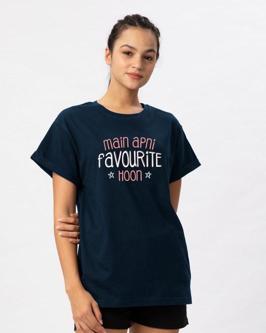 Shop Apni Favourite Boyfriend T-Shirt-Back
