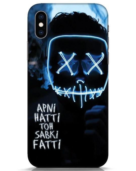 Shop Apni Hatti Toh Sabki Fatti iPhone XS Mobile Cover-Front