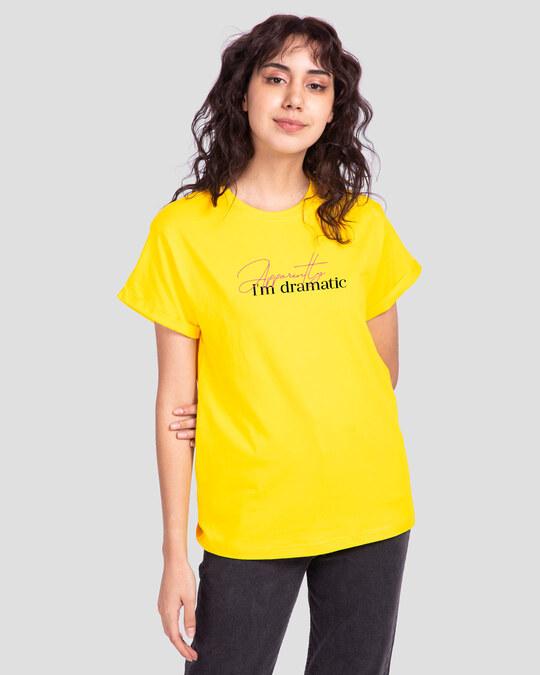 Shop Apparently Dramatic Boyfriend T-Shirts Pineapple Yellow -Back