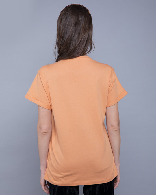 Shop Apricot Orange Boyfriend T-Shirt-Full
