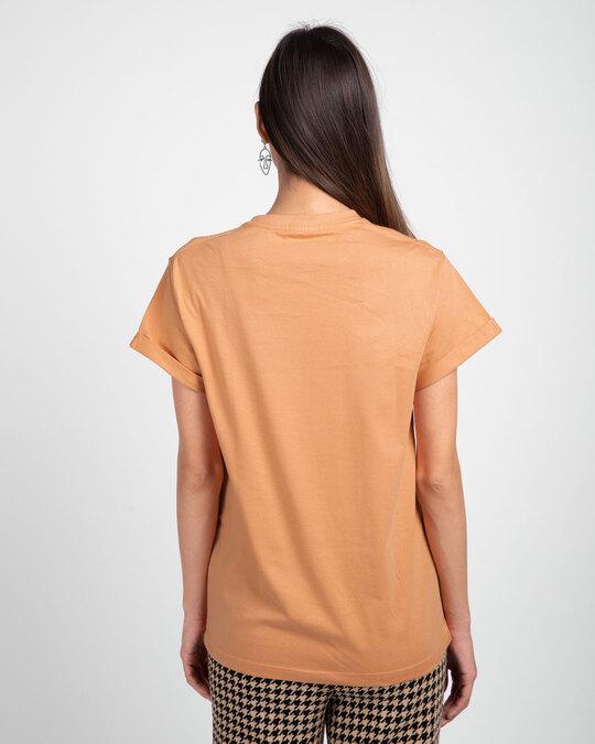 Shop Apricot Orange Boyfriend T-Shirt-Full