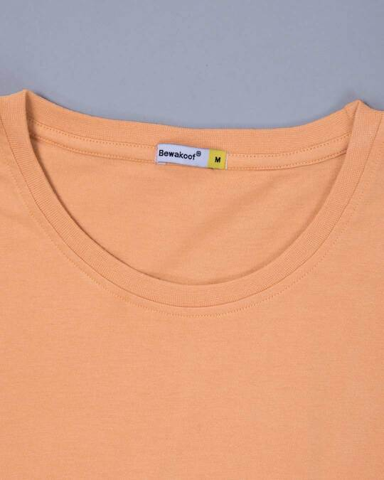 Shop Apricot Orange Half Sleeve T-Shirt