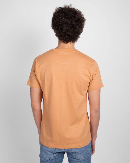 Shop Apricot Orange Half Sleeve T-Shirt-Design