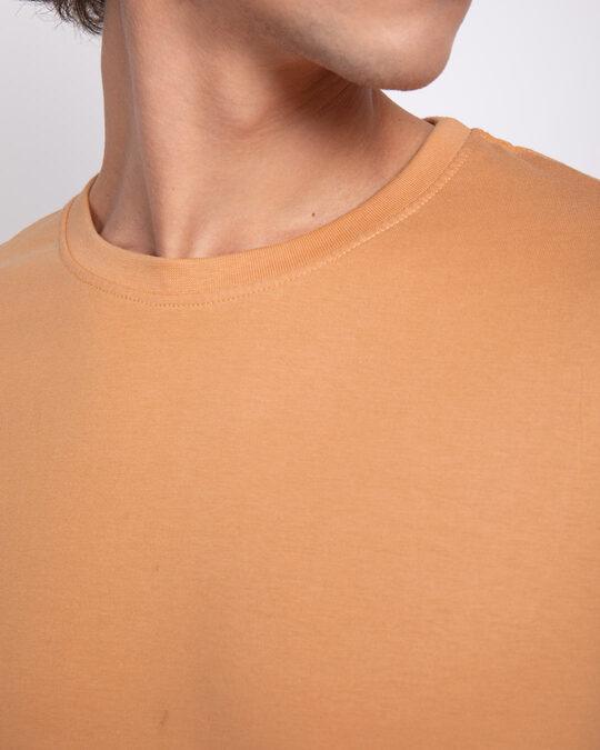Shop Apricot Orange Half Sleeve T-Shirt