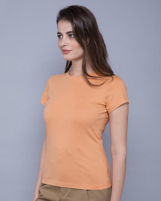 Shop Apricot Orange Half Sleeve T-shirt-Back