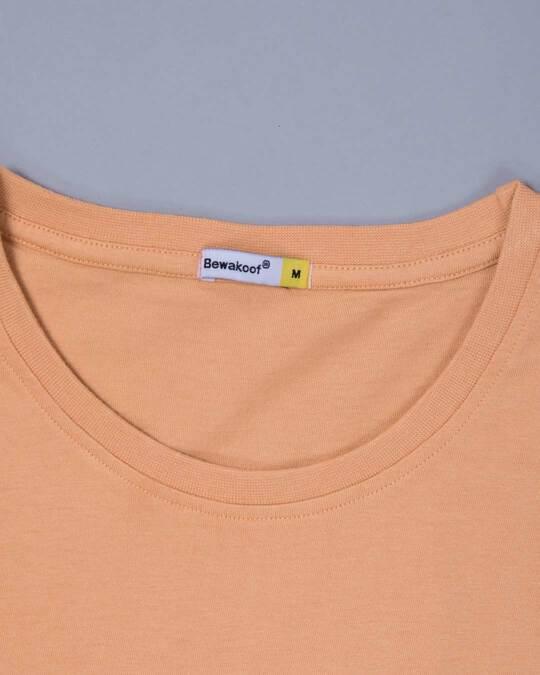 Shop Apricot Orange Plain Full Sleeve T-Shirt