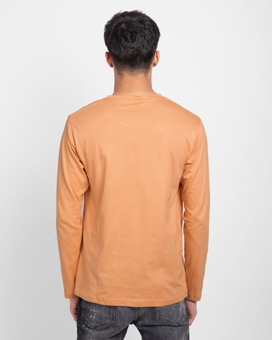 Shop Apricot Orange Plain Full Sleeve T-Shirt-Design