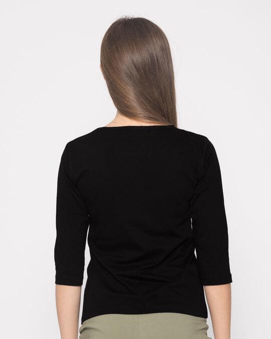 Shop Apun Hi Single Round Neck 3/4th Sleeve T-Shirt-Design