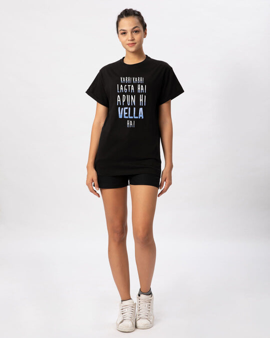 Shop Apun Hi Vella Boyfriend T-Shirt