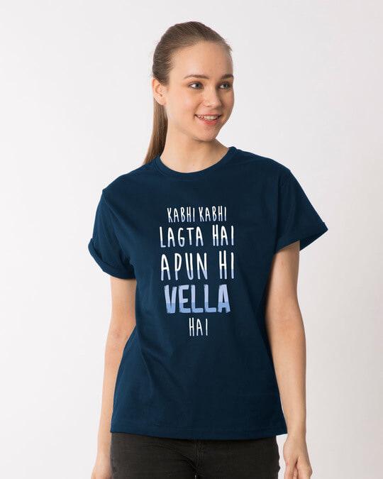 Shop Apun Hi Vella Boyfriend T-Shirt-Back