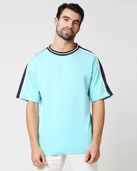 Shop Beach Blue Varsity T-Shirt-Back