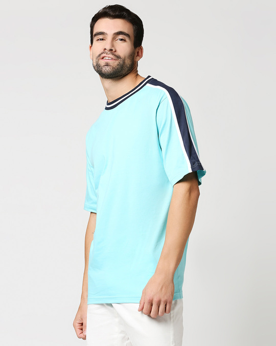 Shop Beach Blue Varsity T-Shirt-Design