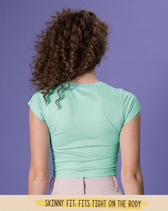 Shop Aqua Green Crop Top T-Shirt