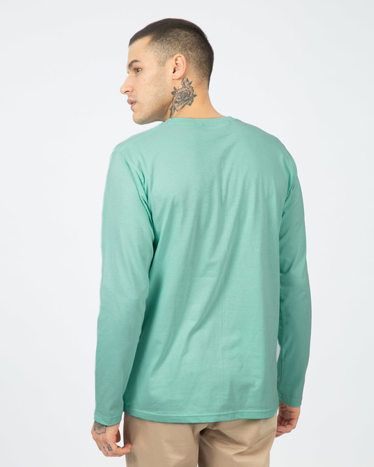 Shop Aqua Green Full Sleeve T-Shirt