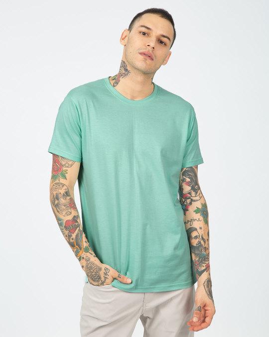 Shop Aqua Green Half Sleeve T-Shirt-Back