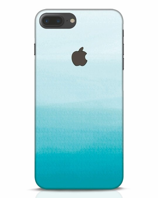 Shop Aqua iPhone 7 Plus Logo Cut Mobile Cover-Front