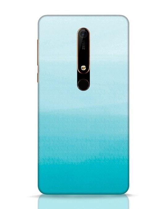 Shop Aqua Nokia 6.1 Mobile Cover-Front