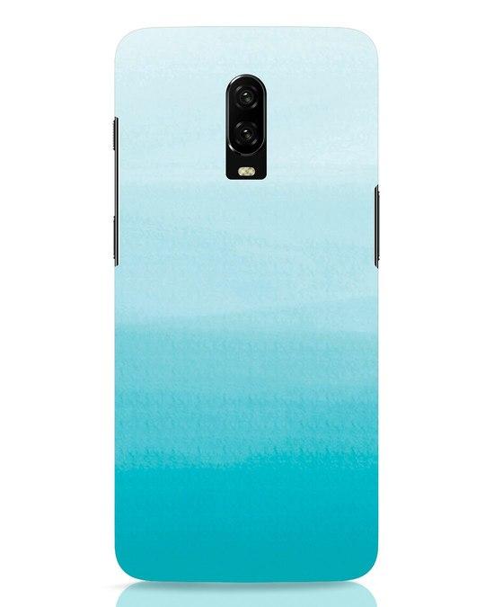Shop Aqua OnePlus 6T Mobile Cover-Front