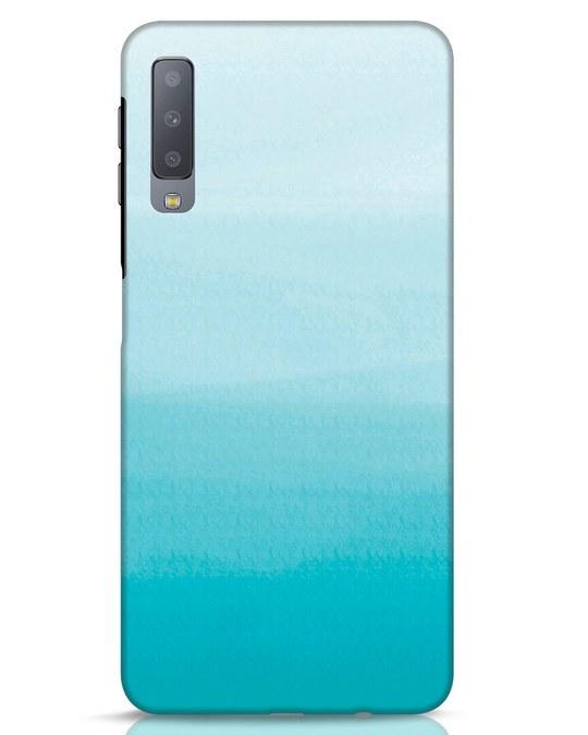 Shop Aqua Samsung Galaxy A7 Mobile Cover-Front