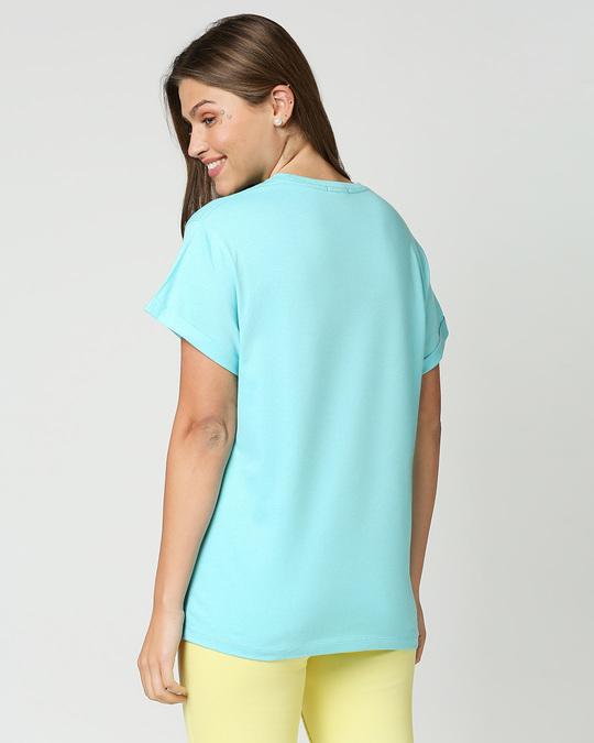 Shop Beach Blue Boyfriend T-Shirt-Full