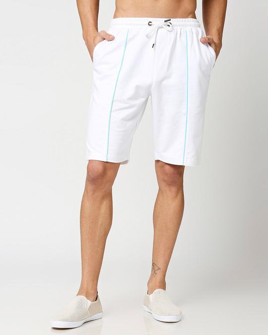 Shop Beach Blue Color Block Shorts-Back