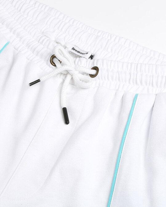 Shop Beach Blue Color Block Shorts