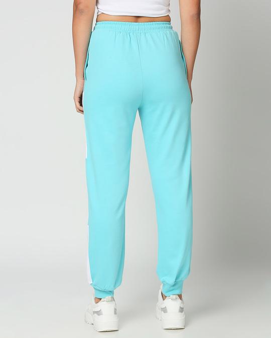 Shop Beach Blue Colorblock Joggers-Design
