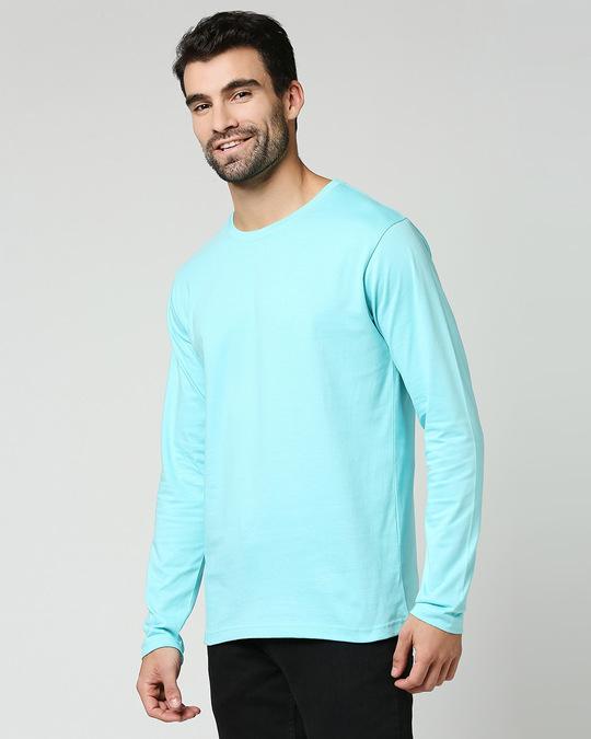 Shop Beach Blue Full Sleeve T-Shirt-Design