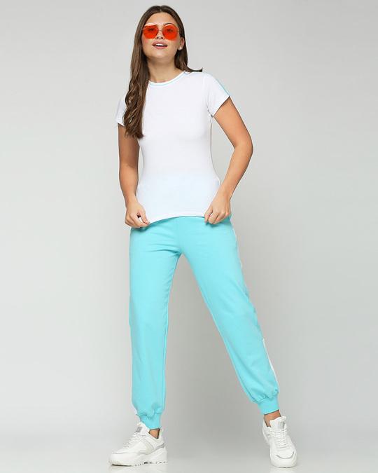 Shop Beach Blue Half Sleeve T-Shirt
