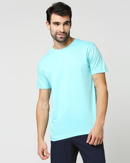 Shop Beach Blue Half Sleeve T-Shirt-Back