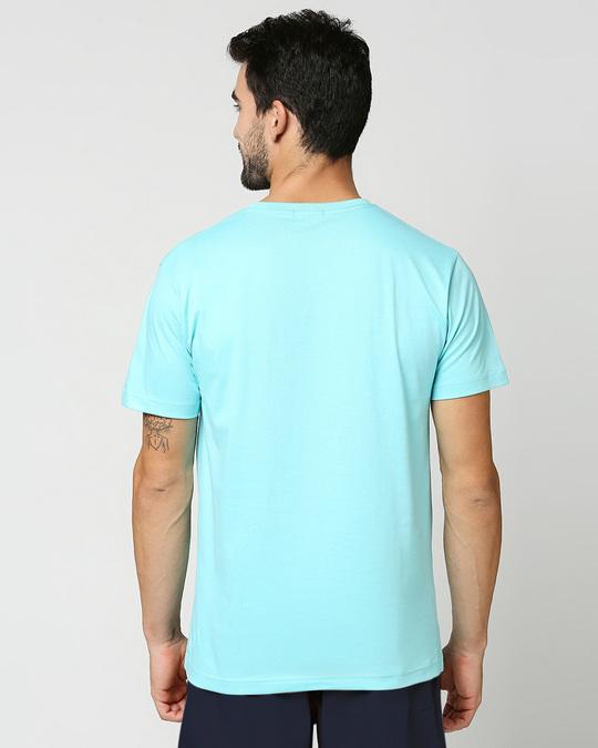 Shop Beach Blue Half Sleeve T-Shirt-Full