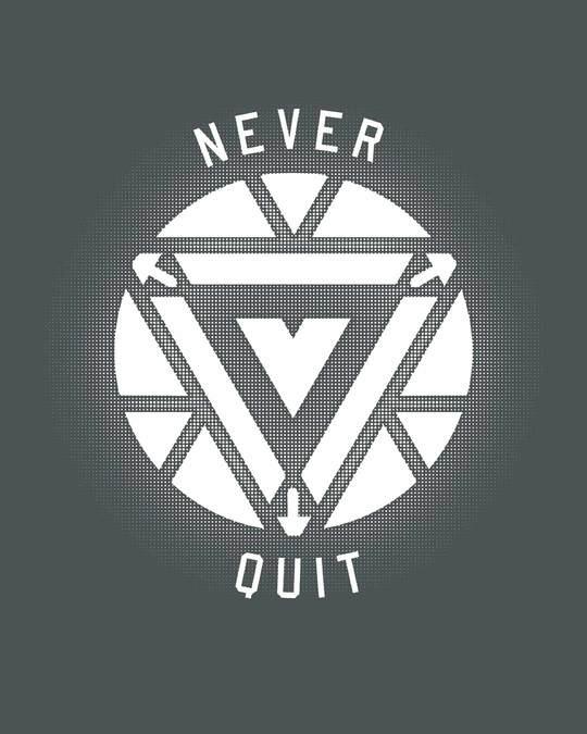 Shop Arc Reactor Never Quit Glow In Dark Full Sleeve T-Shirt (AVEGL) -Full