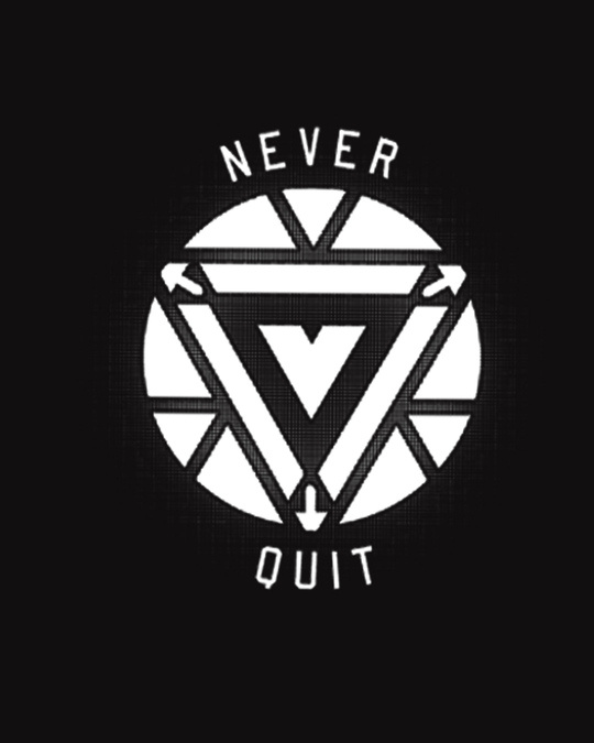 Shop Arc Reactor Never Quit Glow In Dark Half Sleeve T-Shirt (AVEGL) -Full